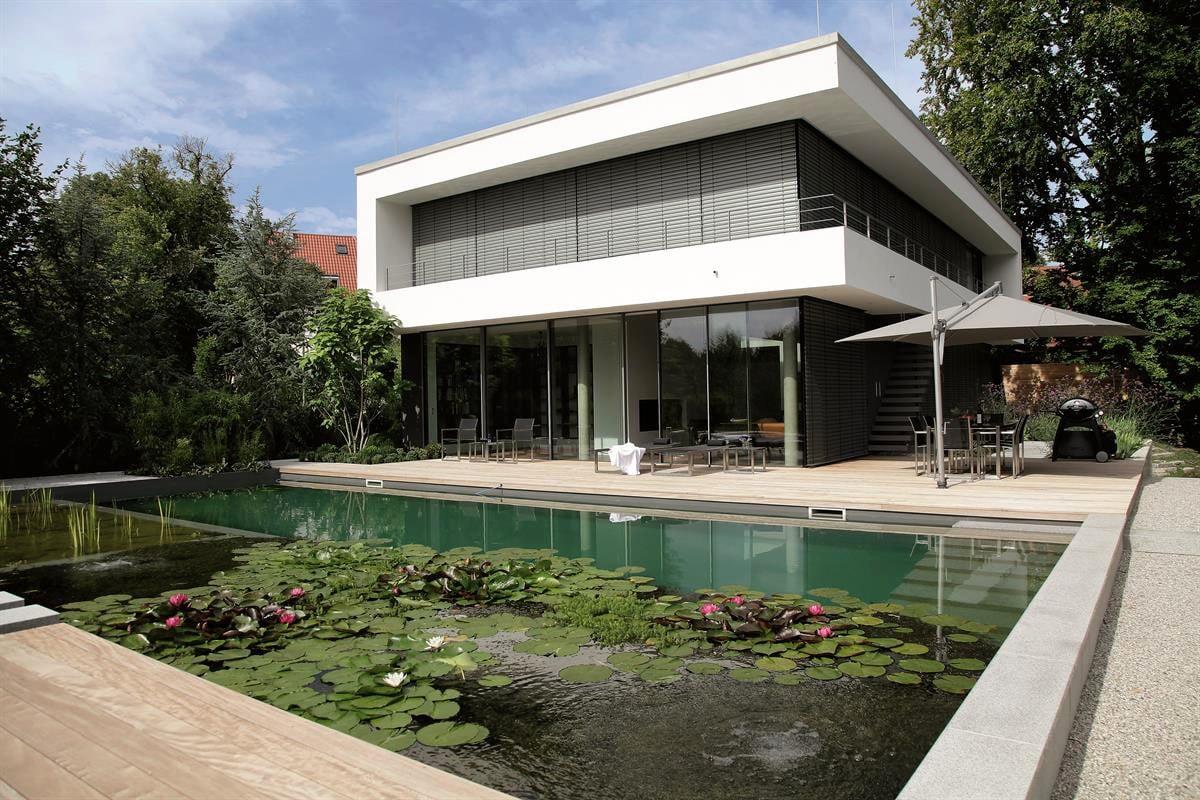 Modern natural swimming pool