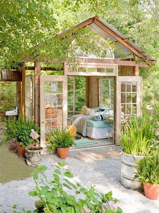 diy-she-shed-with-french-doors-day-bed