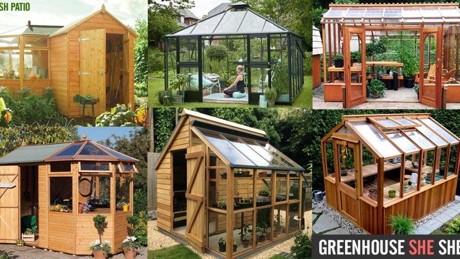 Greenhouse SHE Shed DIY Kit Ideas