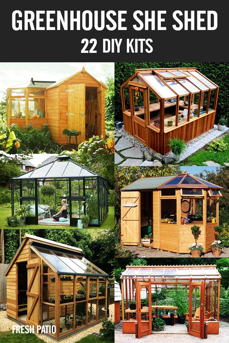 Greenhouse SHE Shed ideas – 22 DIY Kits