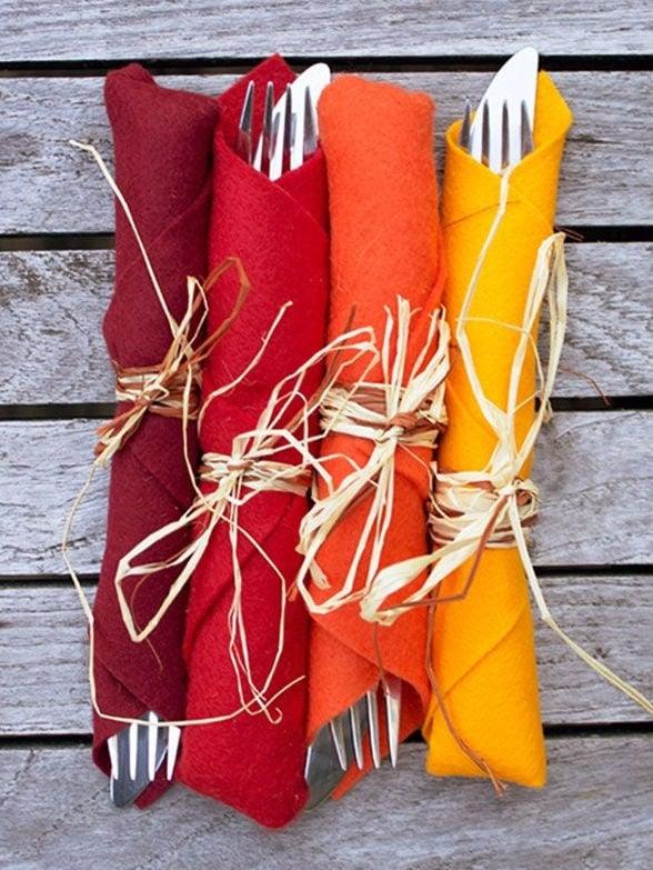 felt napkins autumn colors