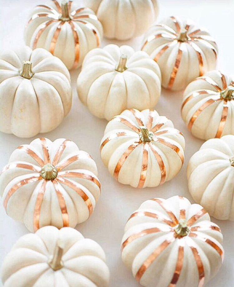 copper-tape-decorated-mini-pumpkins