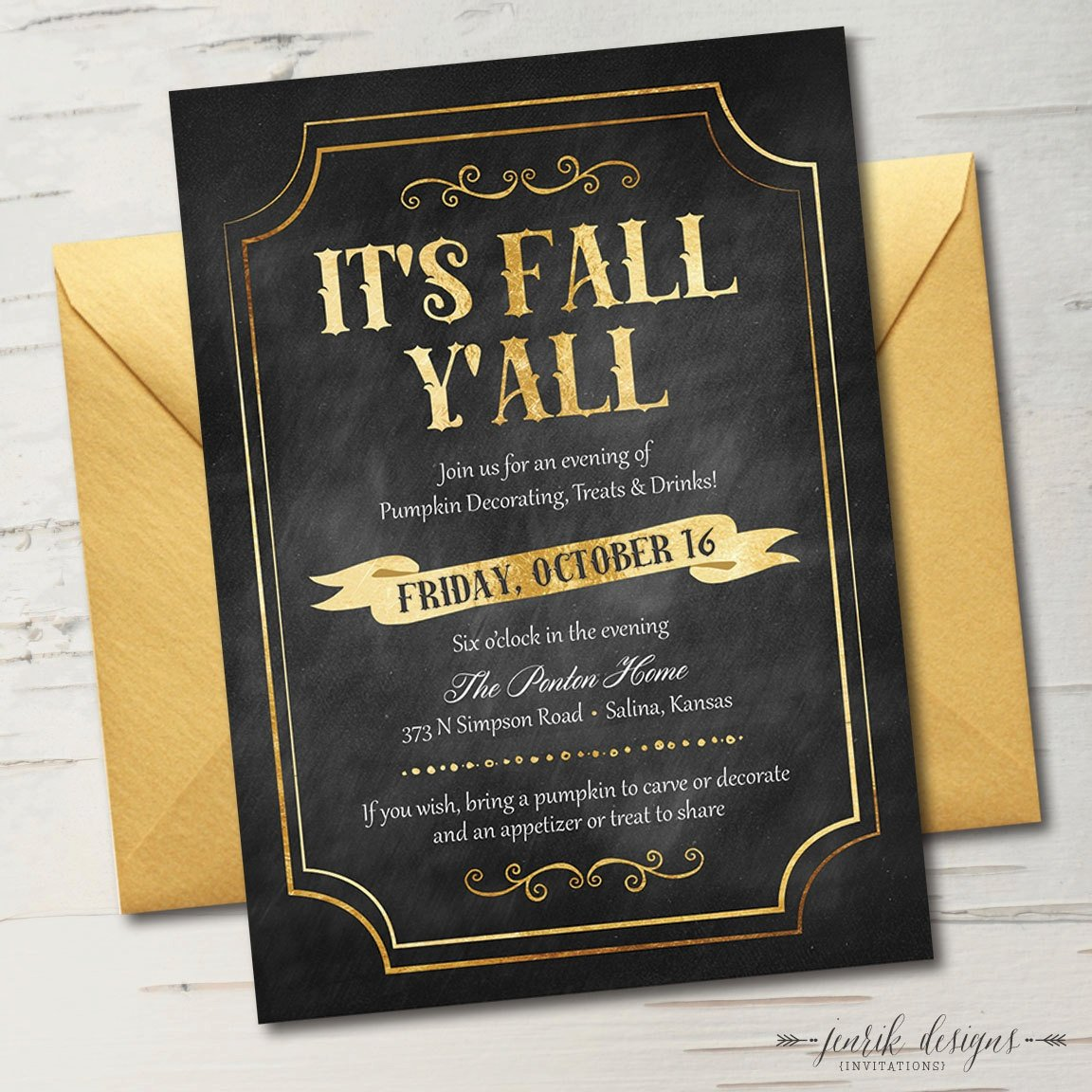 Fall Y'all Party Invite