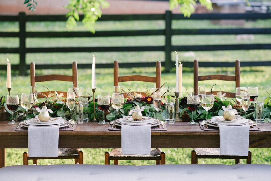 crystal and linen outdoors