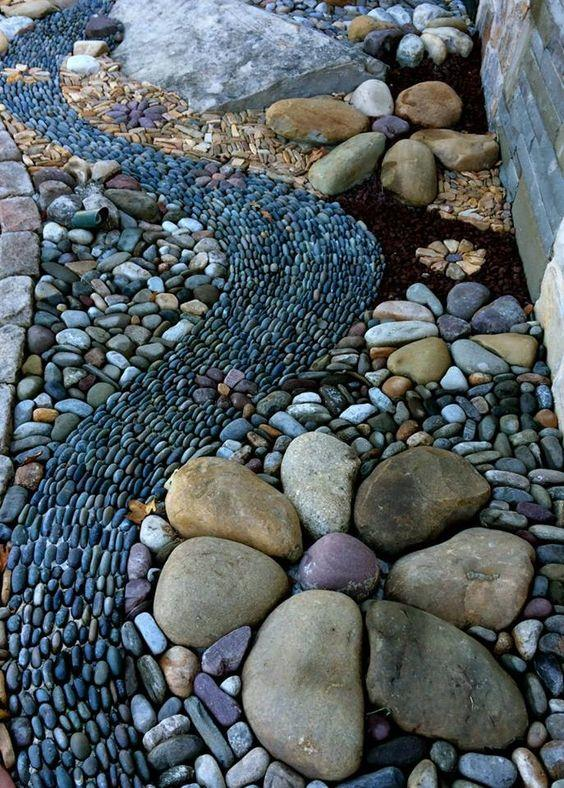 Amazing River Rock Designs From Winding Path