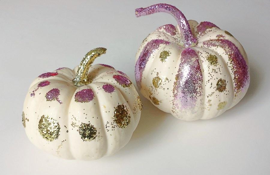 glittered-white-pumpkins
