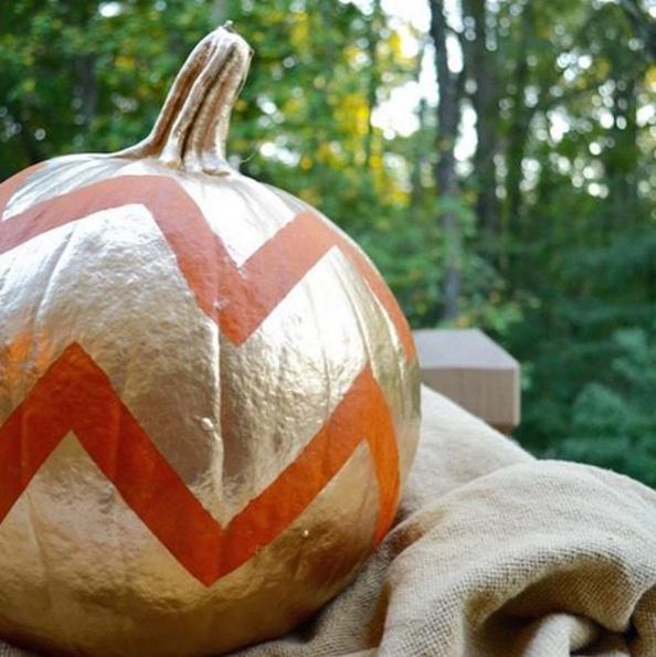 gold-chevron-pumpkin