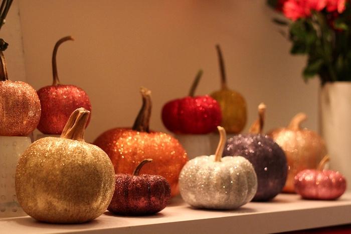 Harvest glitter pumpkins