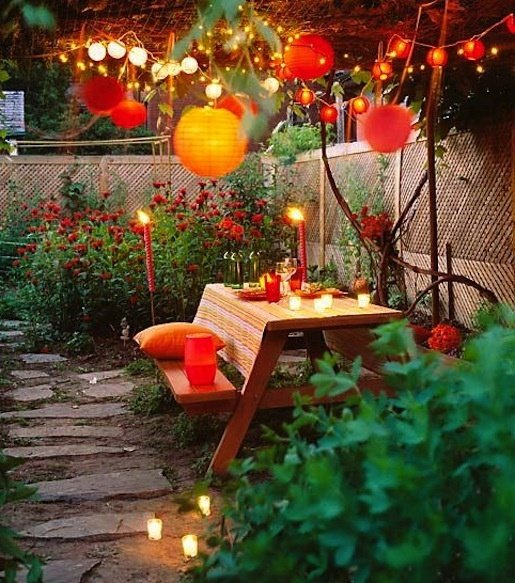 Burnt oranges and reds for fall decor