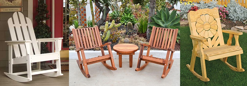 Patio rocking chair ideas