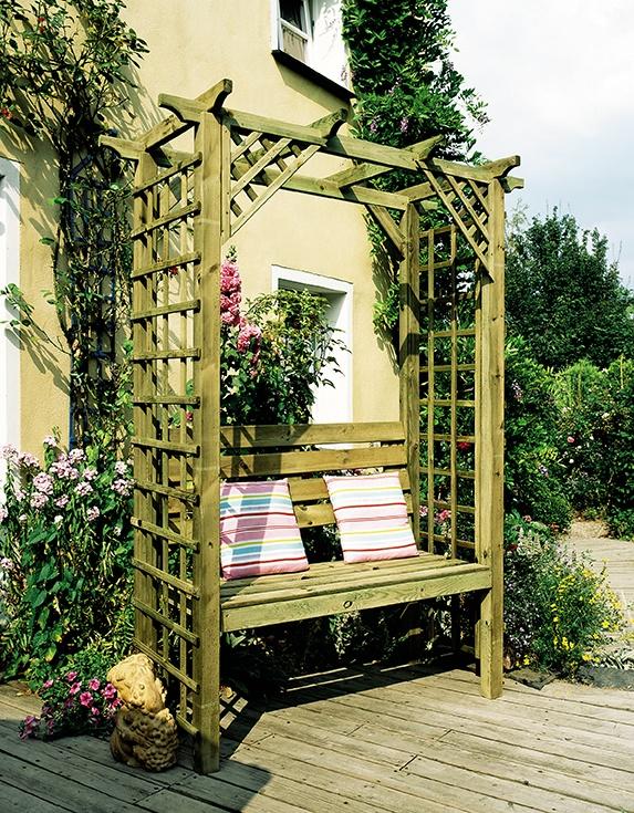 Pergola Arbor Seat Idea