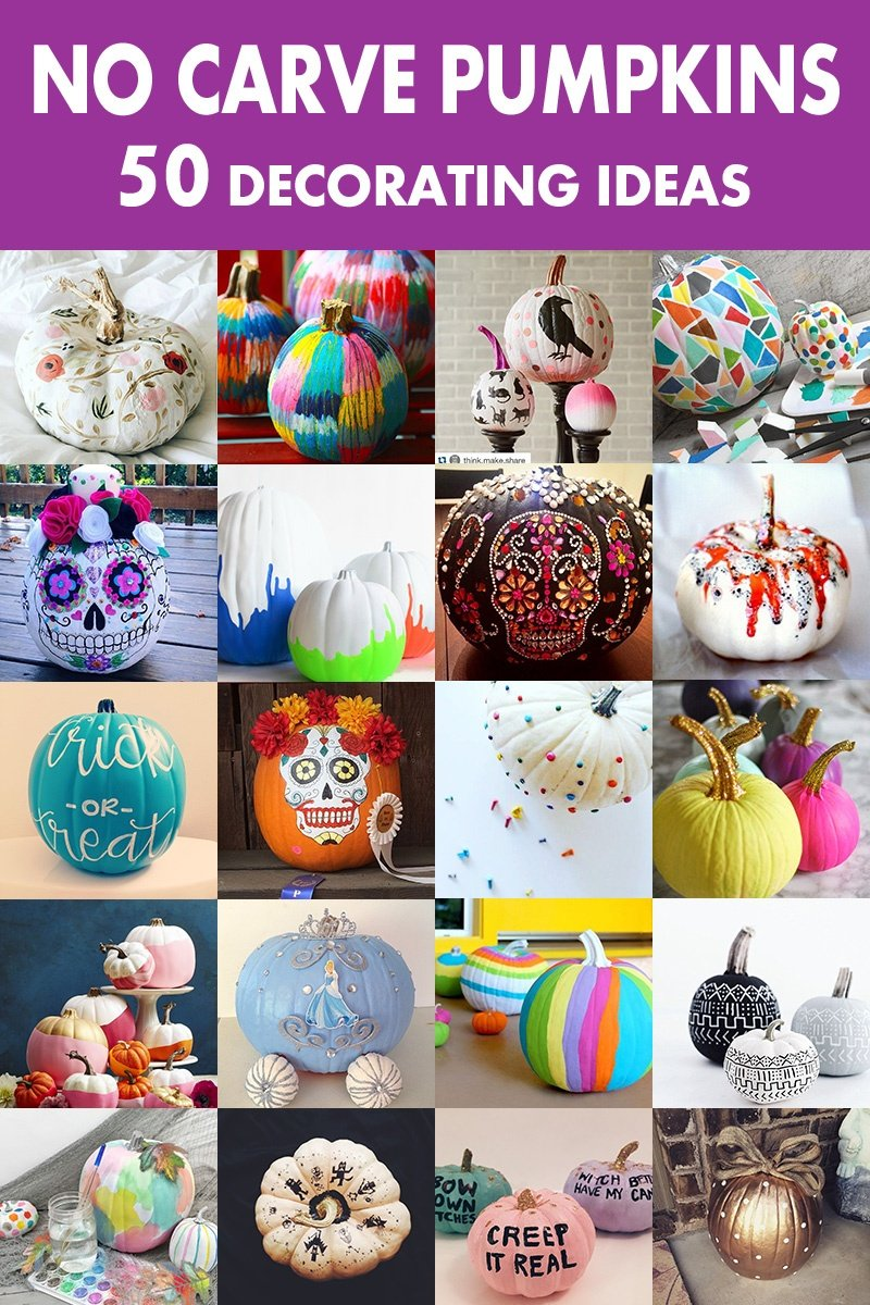 Pumpkin Designs and Decorating Ideas Without Carving