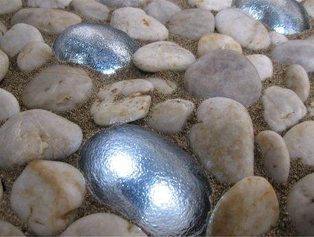 Solar river rocks