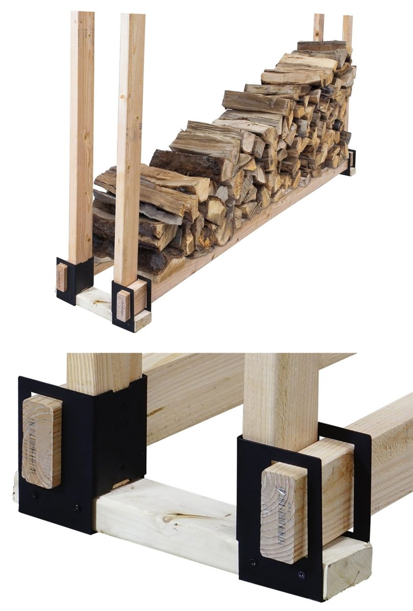 8 Quick Amp Easy To Build Firewood Rack Bracket Kit Reviews