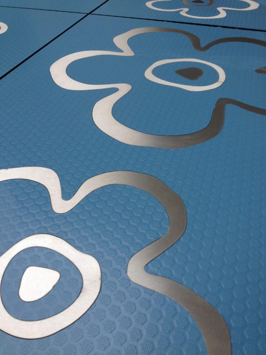 Inlay design close-up