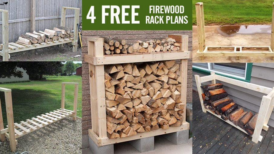 4 Free DIY firewood rack plans