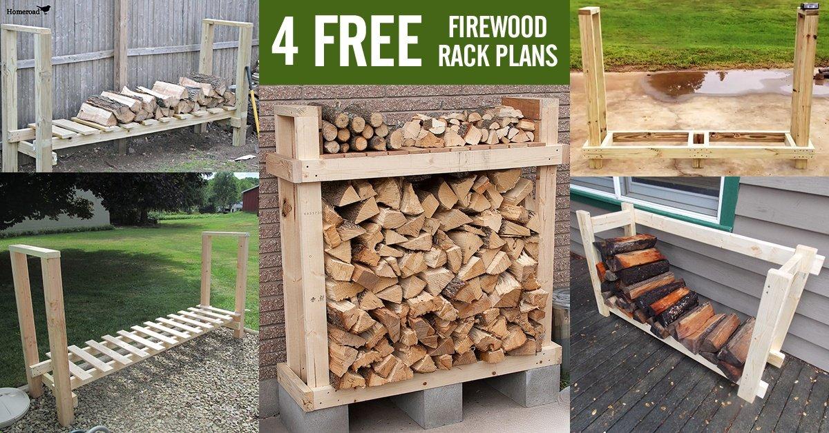 Firewood Storage Shelter : Free firewood rack plans built from s two under