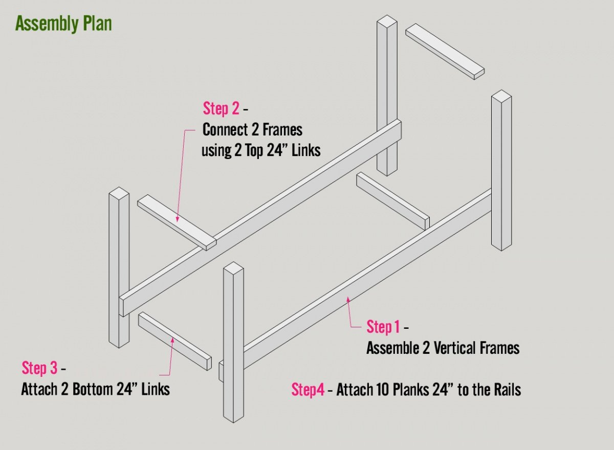 DIY Log Holder Plan Built with 2×4s & 4×4s - Assembly Plan
