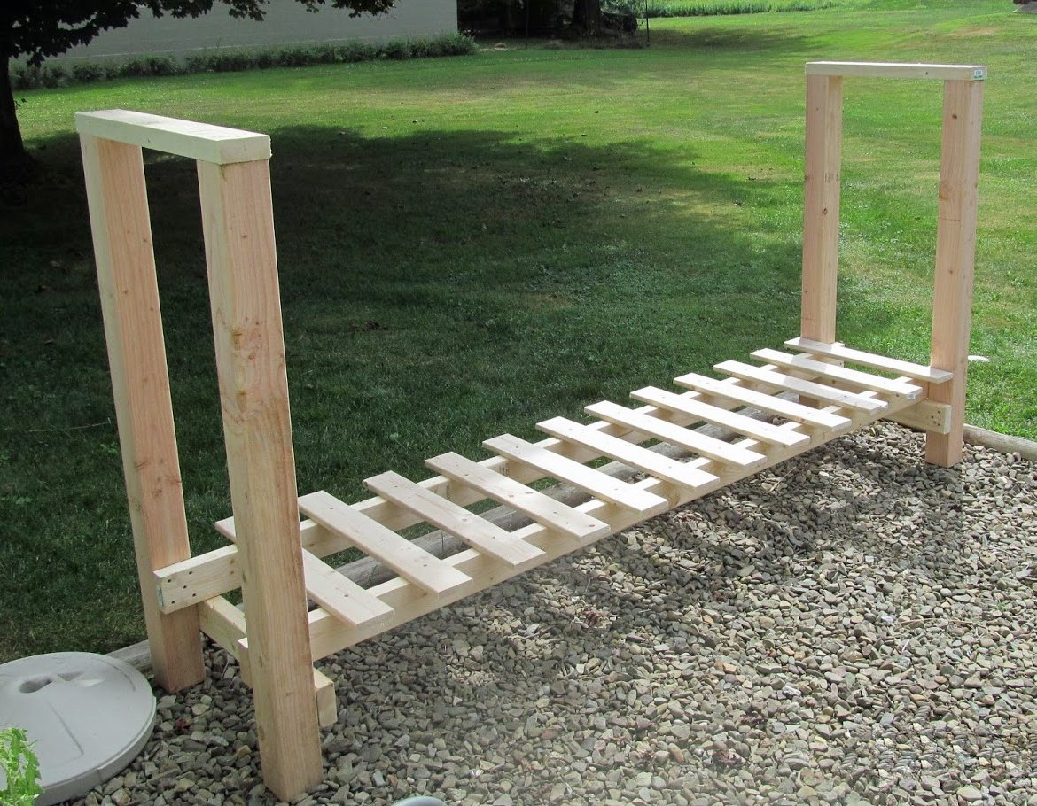 Free DIY Log Holder Plan Built with 2×4s & 4×4s