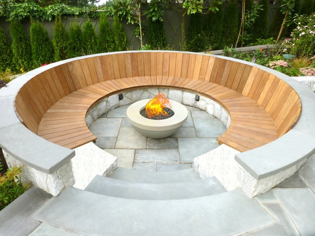 Spectacular Idea For A Circular Fire Pit Seating Design With Semi Sphere