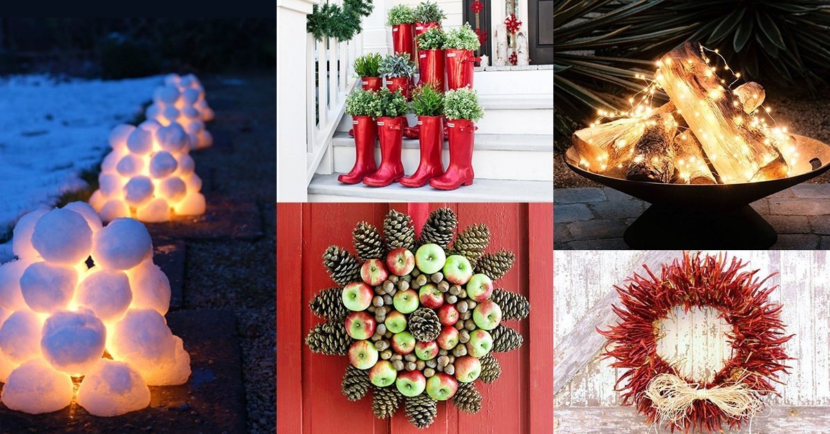 unique outdoor christmas decorations garden ideas - Cool Outdoor Christmas Decorations