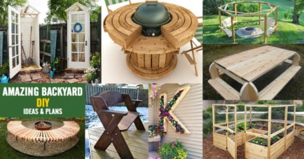Creative backyard ideas & plans for DIY projects