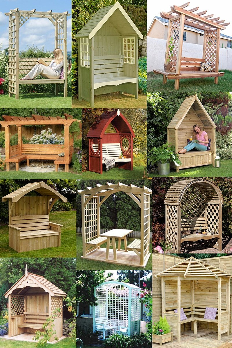 45 Garden Arbor Bench Design Ideas & DIY Kits You Can ...