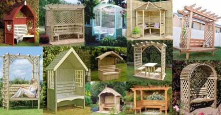 Garden Arbor Bench Design Ideas & DIY Kits