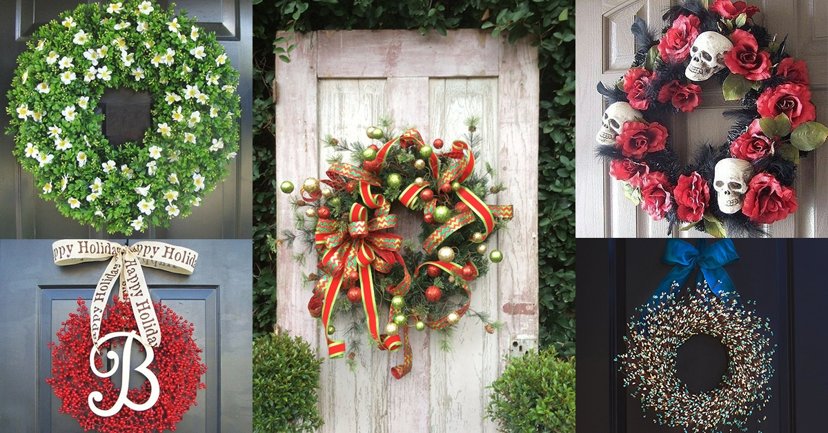 21 artificial christmas wreath ideas for stunning front door decorating - Artificial Christmas Wreaths Decorated