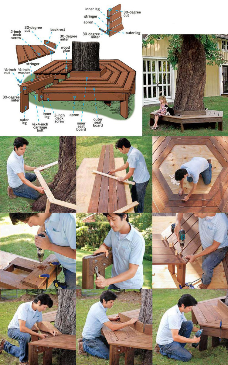 Charming Tree Bench - How To Build Tutorial