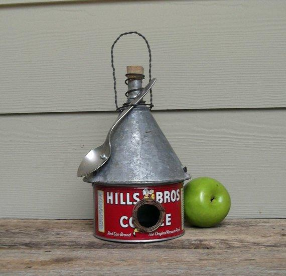 Hills Bros Coffee Can Birdhouse