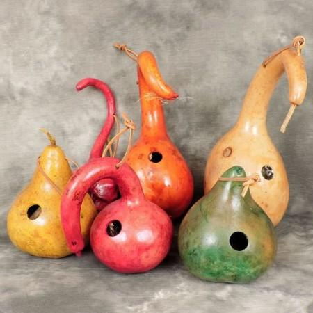 Gourds Colors Birdhouses