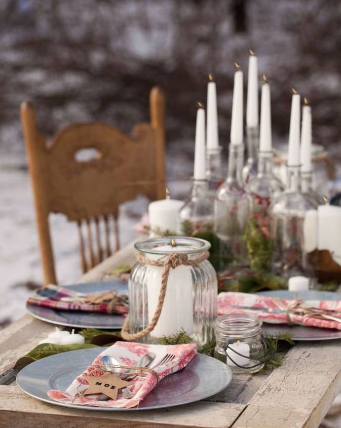 Dinner Tables For Outdoor Winter Parties