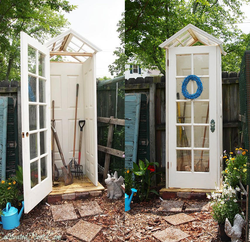Build A Tool Shed From Repurposed Doors