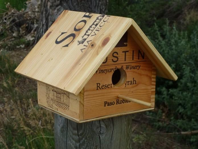 Wine Crate BirdHouse