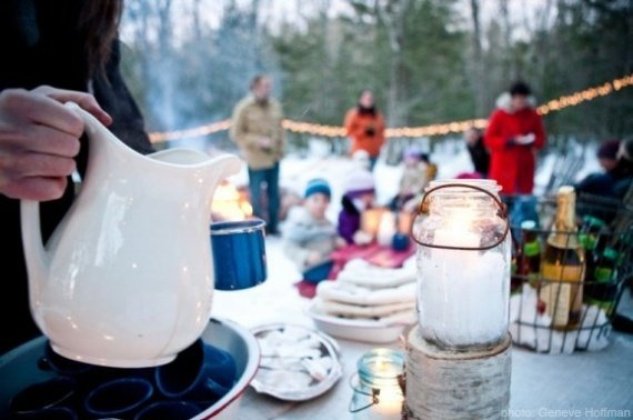 Outdoor winter party
