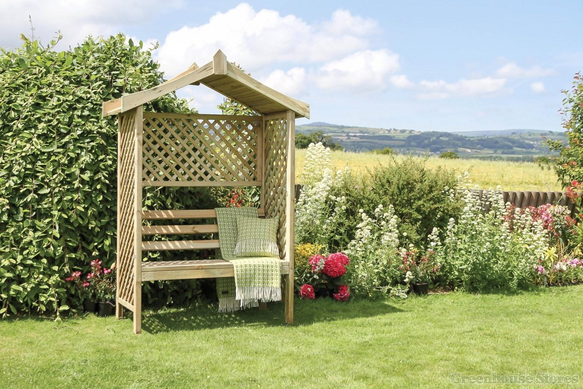 Zest 4 Leisure Rutland Arbor Bench with Lattice Trellis Panels