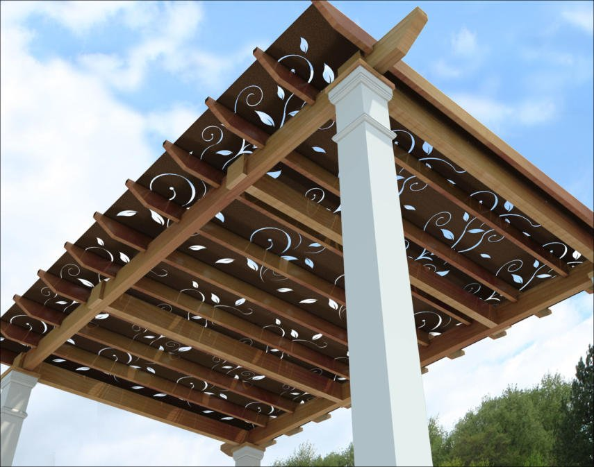 These stunning plates and panels will transform your pergola and the  surrounding area. Both functional and beautiful these decorative pieces  provide shade ... - Covered Pergola Designs For Best Shade Ideas (Consumer Guide)