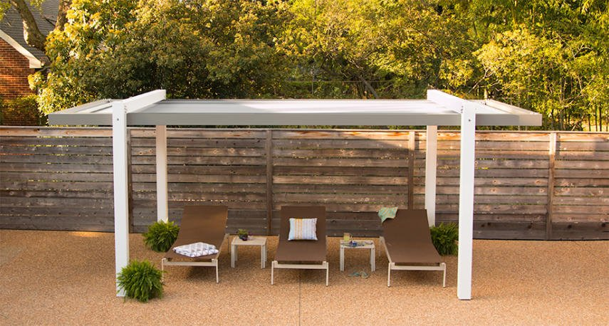 ... and it looks great with pergolas of any material. With almost no upkeep  needed, this durable design will provide shade for years for the whole  family! - Covered Pergola Designs For Best Shade Ideas (Consumer Guide)