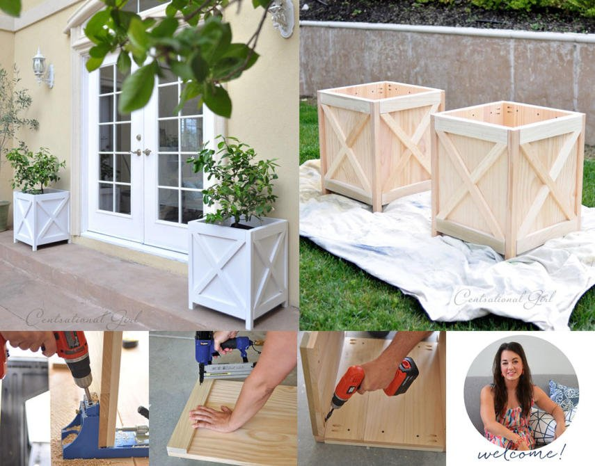 Diy Criss Cross Planter Box This Is A Beautiful Outdoor Square