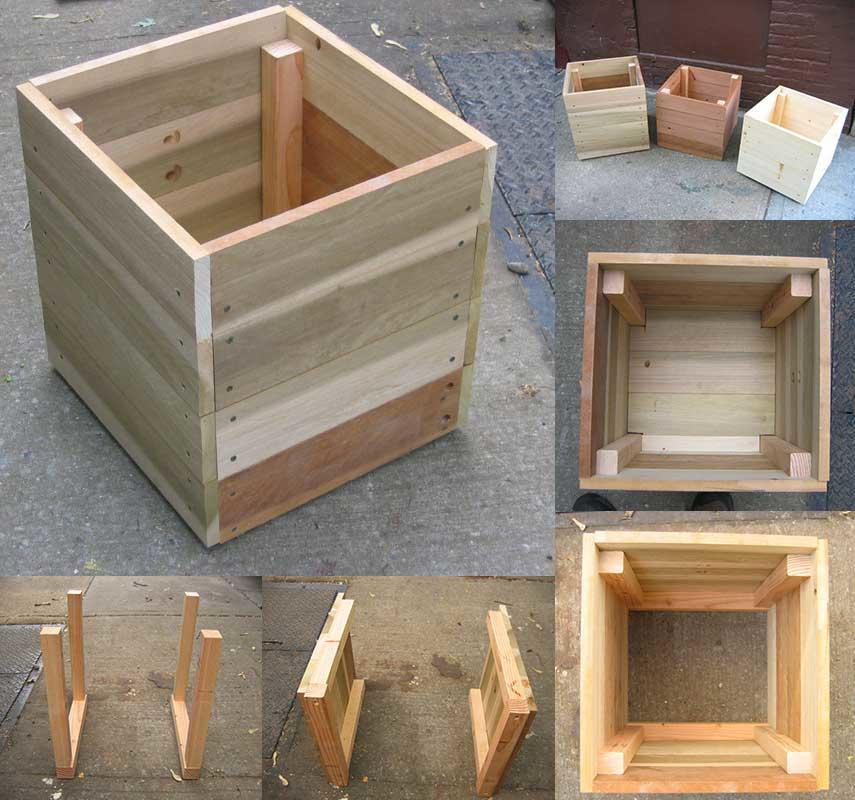 14 square planter box plans best for diy 100 free. Black Bedroom Furniture Sets. Home Design Ideas