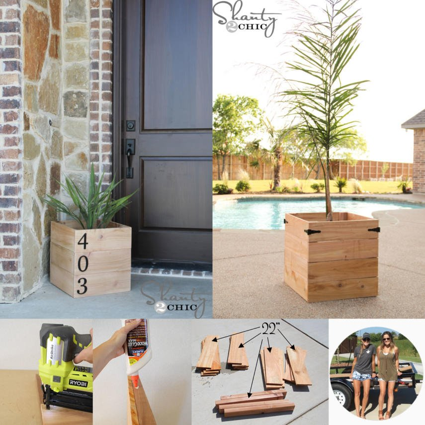 This Is A Versatile Planter Box Design That Suitable For Tall Or Short Plants Make It Look Modern By Adding Contemporary Style House Numbers
