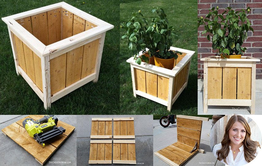 14 square planter box plans best for diy 100 free for Garden planter box designs