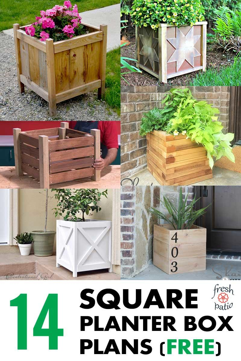 14 Square Planter Box Plans Best for DIY (100% Free)