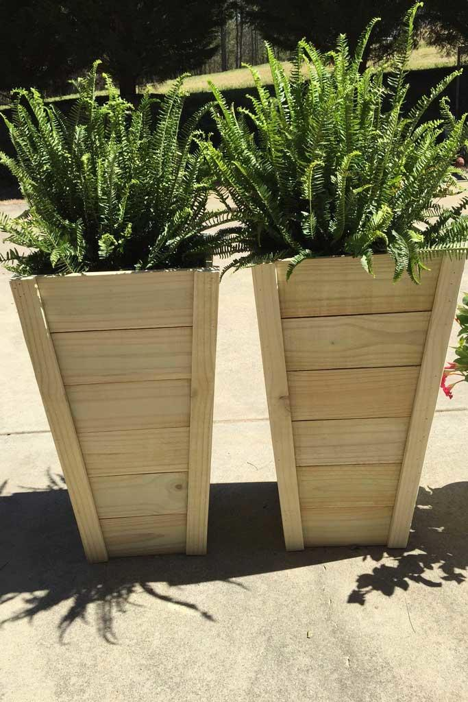 10 Tall Planter Box Plans For Diy Vertical Trapezoid 100 Free