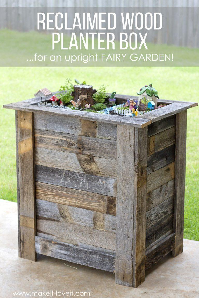 10 Tall Planter Box Plans For Diy Vertical Amp Trapezoid