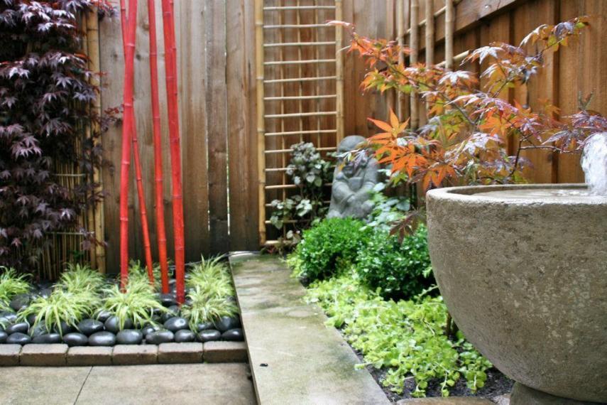 Red bamboo zen