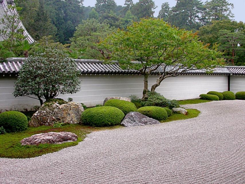 Natural is a big part of a zen garden