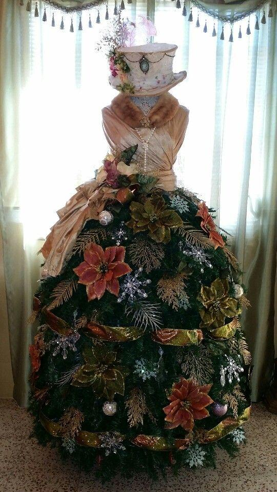 Victorian-style mannequin tree