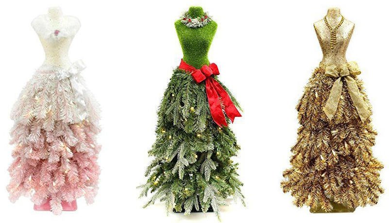 3-foot tall Mannequin Christmas Trees